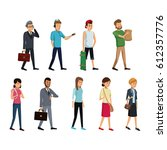 group people society standing | Shutterstock .eps vector #612357776