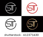 st text red gold black silver... | Shutterstock .eps vector #612371630