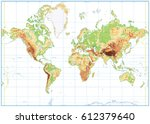 blank physical world map... | Shutterstock .eps vector #612379640