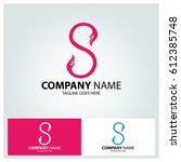 secure logo design template.... | Shutterstock .eps vector #612385748