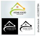 home food logo design template. ...   Shutterstock .eps vector #612385784