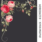 vintage background with pink...   Shutterstock .eps vector #612403604