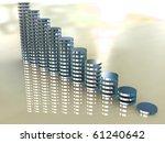 3d business statistics | Shutterstock . vector #61240642