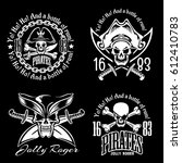 pirates emblem set with pirate... | Shutterstock .eps vector #612410783