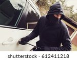 car theft   thief trying to...   Shutterstock . vector #612411218