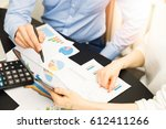 business people discussing... | Shutterstock . vector #612411266