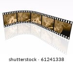film roll with pictures ... | Shutterstock . vector #61241338