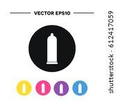 condom icon. vector illustration | Shutterstock .eps vector #612417059