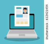 curriculum vitae online icon | Shutterstock .eps vector #612421454
