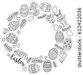 vector pattern for easter eggs  ...   Shutterstock .eps vector #612422036