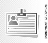 id card sign. vector. blackish... | Shutterstock .eps vector #612424028