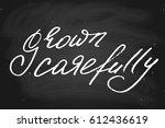 chalk chalkboard blackboard... | Shutterstock .eps vector #612436619