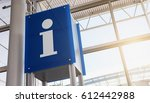information sign in the airport | Shutterstock . vector #612442988