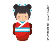 Cute Japanese Doll Icon