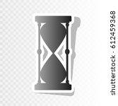 hourglass sign illustration....   Shutterstock .eps vector #612459368