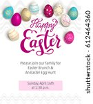 easter red holiday template | Shutterstock .eps vector #612464360