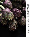 ingredients. fresh textured... | Shutterstock . vector #612467249