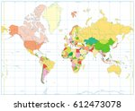 political world map isolated on ...   Shutterstock .eps vector #612473078
