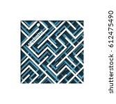 maze. background labirinth.... | Shutterstock .eps vector #612475490