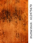 rusty and worn metal surface... | Shutterstock . vector #612475670