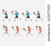 tennis player design vector | Shutterstock .eps vector #612477323
