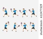 tennis player design vector | Shutterstock .eps vector #612477329
