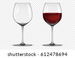 vector realistic wineglass icon ... | Shutterstock .eps vector #612478694
