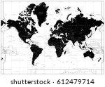 black world map isolated on... | Shutterstock .eps vector #612479714