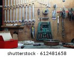 work bench close up | Shutterstock . vector #612481658