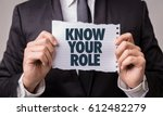 know your role | Shutterstock . vector #612482279