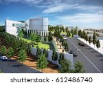 3d rendering and design  ... | Shutterstock . vector #612486740