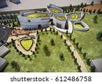 3d rendering and design  ... | Shutterstock . vector #612486758