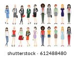 set of working people standing. ... | Shutterstock .eps vector #612488480