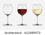 vector realistic wineglass icon ...   Shutterstock .eps vector #612489473