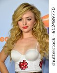 Small photo of LOS ANGELES, CA. March 11, 2017: Actress Peyton List at the Nickelodeon 2017 Kids' Choice Awards at the USC's Galen Centre, Los Angeles