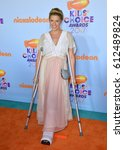 Small photo of LOS ANGELES, CA. March 11, 2017: Actress Jodie Sweetin at the Nickelodeon 2017 Kids' Choice Awards at the USC's Galen Centre, Los Angeles