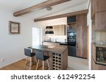 contemporary kitchen interior | Shutterstock . vector #612492254