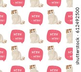 exotic shorthair cat breed... | Shutterstock .eps vector #612492500