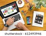 creative designer graphic at... | Shutterstock . vector #612493946