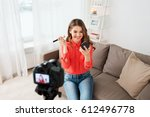 blogging  technology  videoblog ... | Shutterstock . vector #612496778