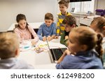 education  children  technology ... | Shutterstock . vector #612498200