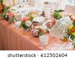 beautiful wedding decor | Shutterstock . vector #612502604