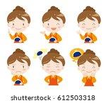 housewife's set of money   six... | Shutterstock .eps vector #612503318