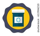 sticker medical care drugs... | Shutterstock .eps vector #612506210