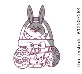 figure rabbit easter inside of...   Shutterstock .eps vector #612507584