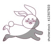 figure cute white rabbit animal ... | Shutterstock .eps vector #612507833