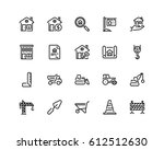 home and construction icon set  ... | Shutterstock .eps vector #612512630