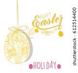 happy easter | Shutterstock . vector #612514400