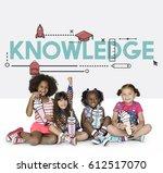 knowledge imagine summer school ... | Shutterstock . vector #612517070