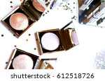 cosmetic blush highlighter for... | Shutterstock . vector #612518726